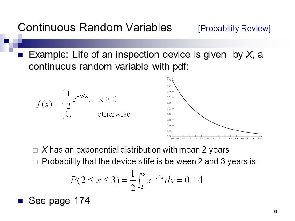 Continuous Random Variables [Probability Review]